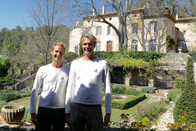 Floris and Ivar at Chateau Margüi