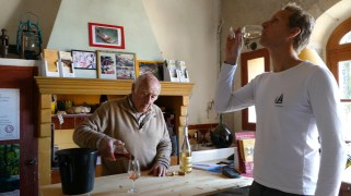 Wine tasting at Domaine de La Gasqui