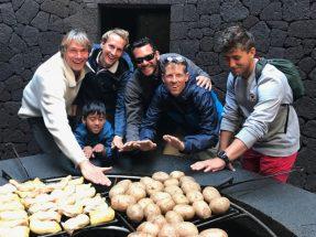 Earth heat grill