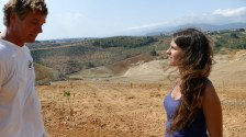 Antonella and Ivar at a Green Link project in Calabria