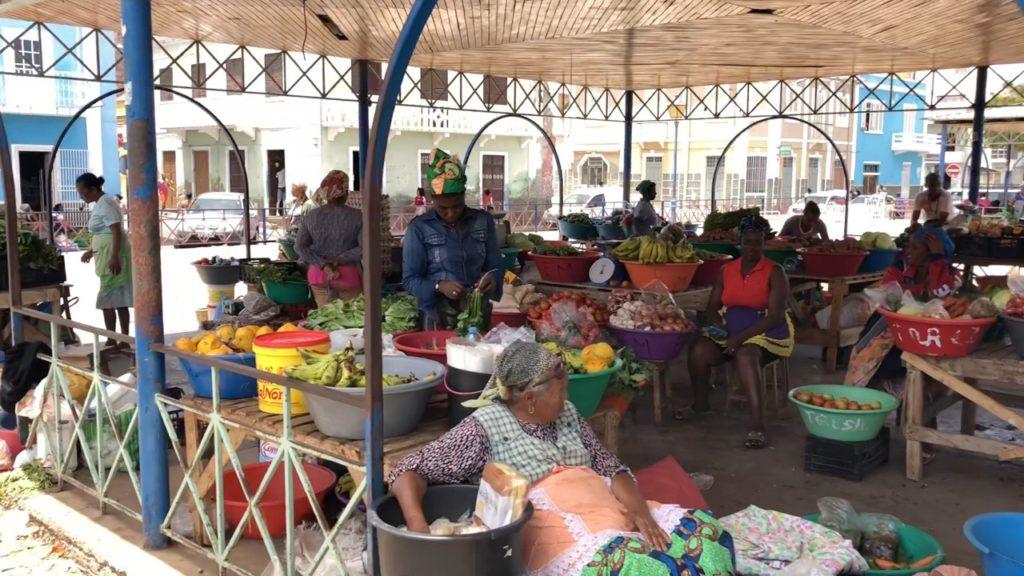 Fruits and vegetables market in Mindelo