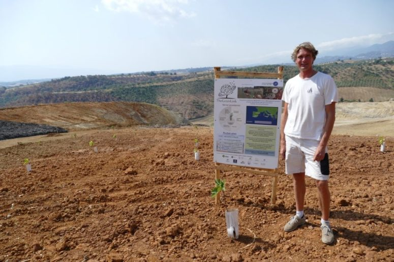 Ivar at The Green Link reforestation project in Calabria