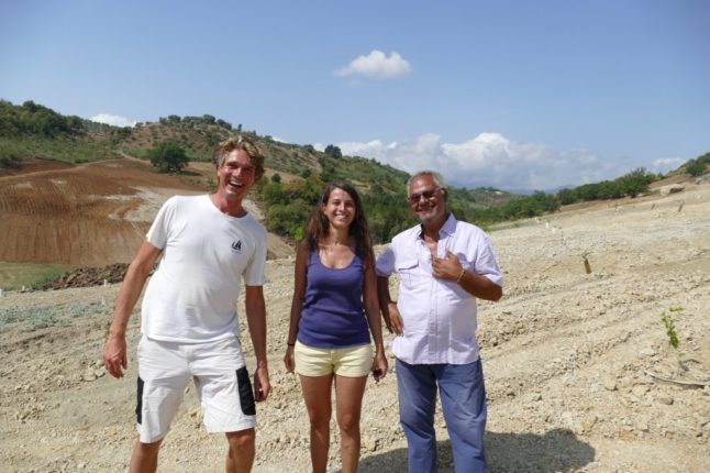 With Antonella and the Land Owner