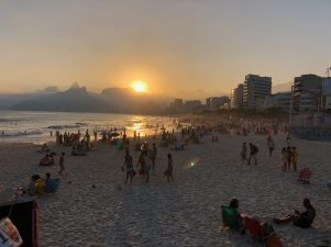 Sunset at Ipanema Beach