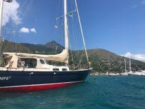 At the Yacht Club Ilhabela mooring