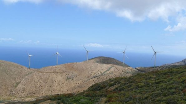 The wind turbines on El Hierro