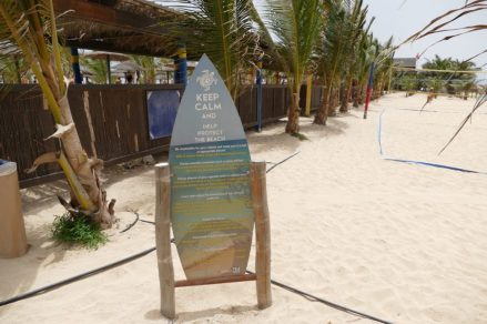 Information signs help to explain the sea turtle story