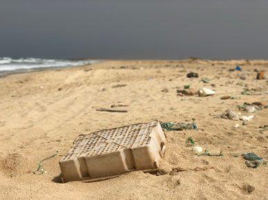 Plastic waste on Sal's beaches