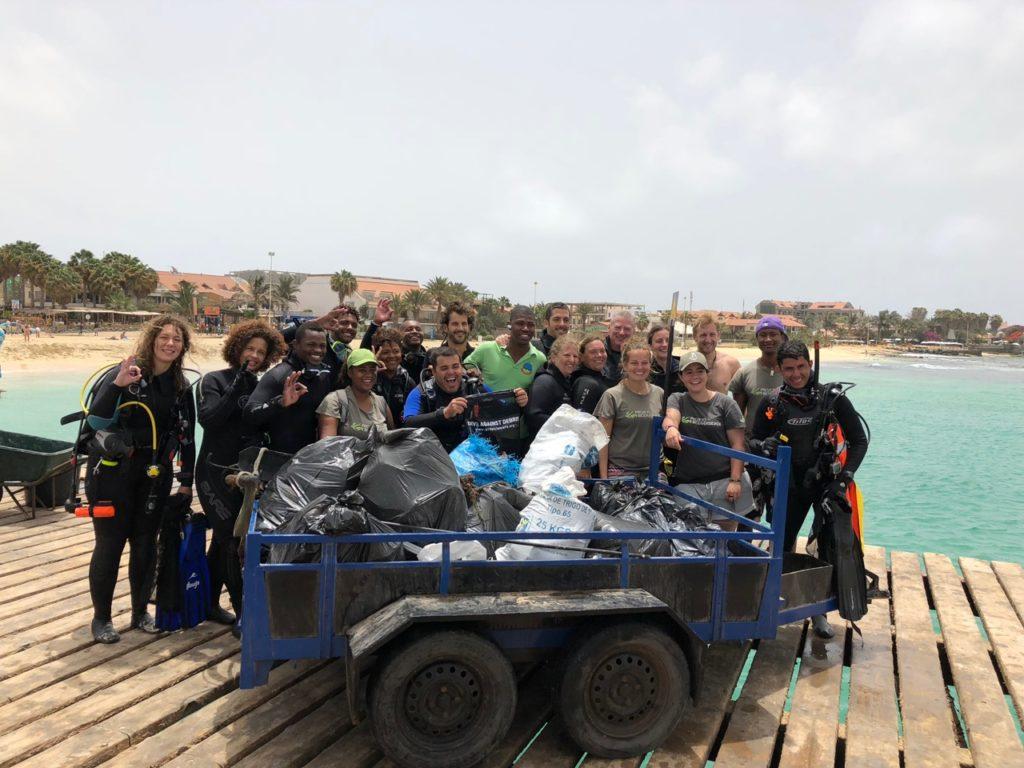 Underwater clean-up result