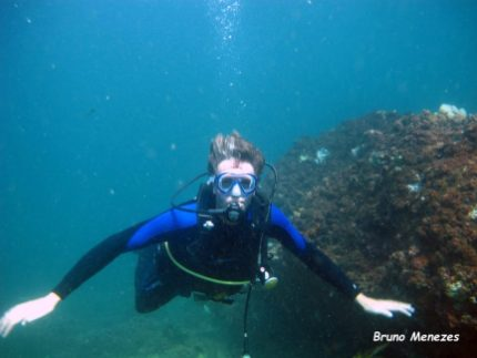 Ivar at the wreck - picture Bruno Menezes