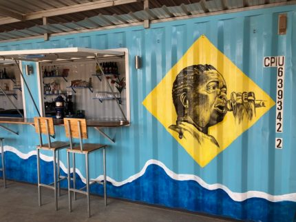 Sea container bar at Casa Tambor