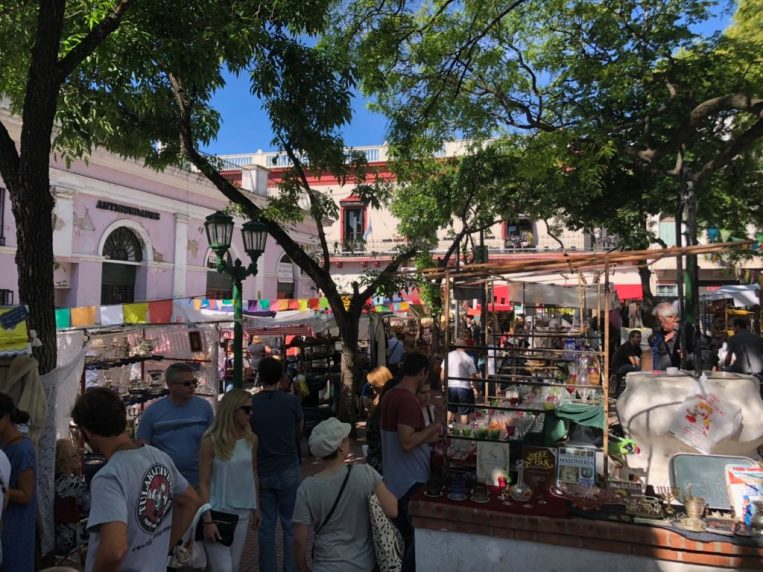 Sunday market in San Telmo