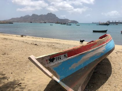 View on the anchorage in Mindelo