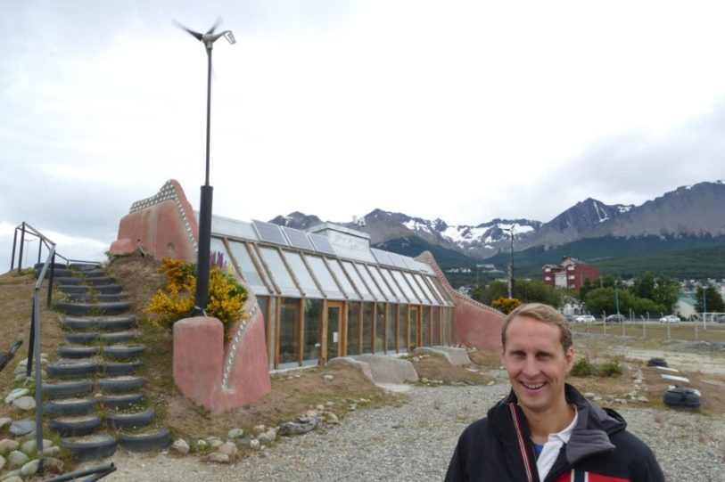At the Earthship Ushuaia
