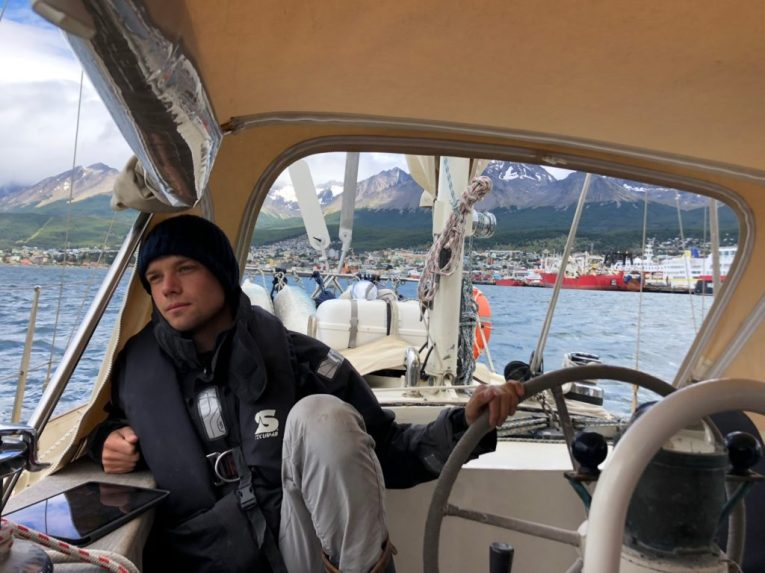 Lars steering away from Ushuaia