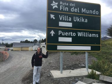 Roadworks in Puerto Williams
