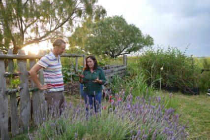 Alda explains her organic farming practices