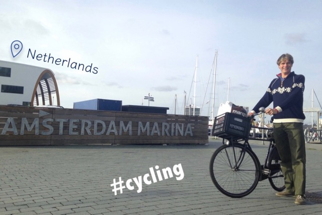 Cycling in Amsterdam (NLD)
