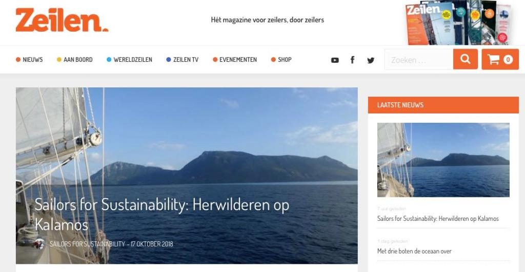 24 Sailors for Sustainability at Zeilen about Rewilding 20181017
