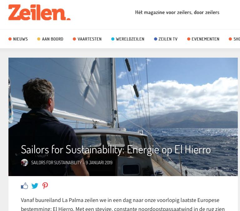 27 Sailors for Sustainability at Zeilen about El Hierro 20190109