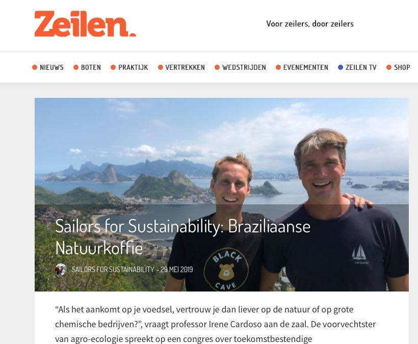 32 Sailors for Sustainability at Zeilen about natural coffee 20190529