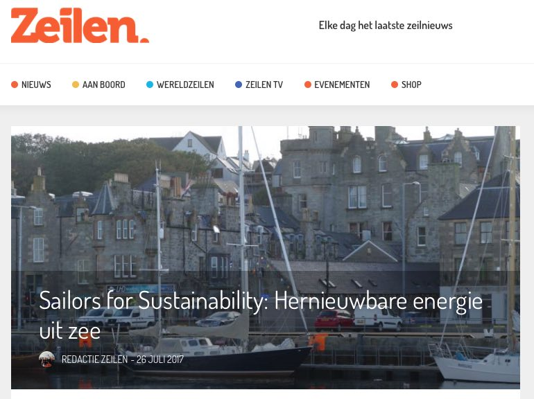 8 Sailors for Sustainability at Zeilen about Marine Energy 20170726