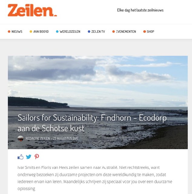 9 Sailors for Sustainability at Zeilen about Ecovillage Findhorn 20170823
