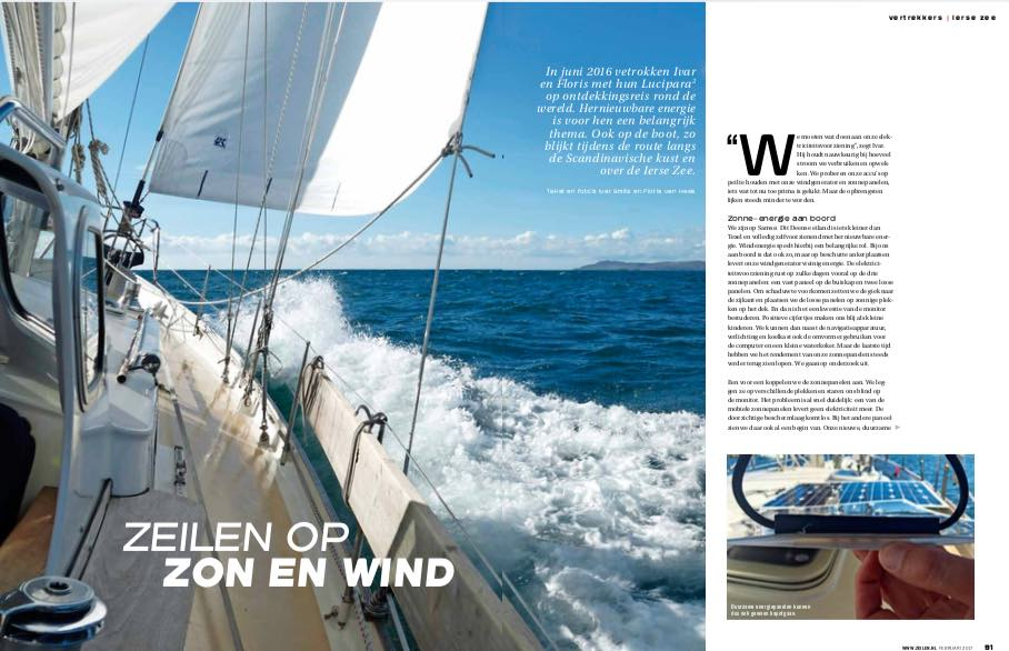 Article 4 Sailors for Sustainability in Zeilen 201702 about Irish Sea