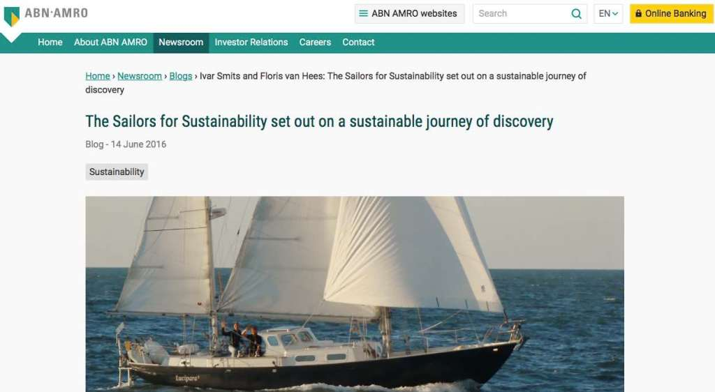 Blog 1 Eng Sailors for Sustainability at ABN AMRO Our Mission