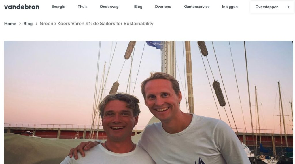 Blog 1 Sailors for Sustainability at Vandebron about Our Mission