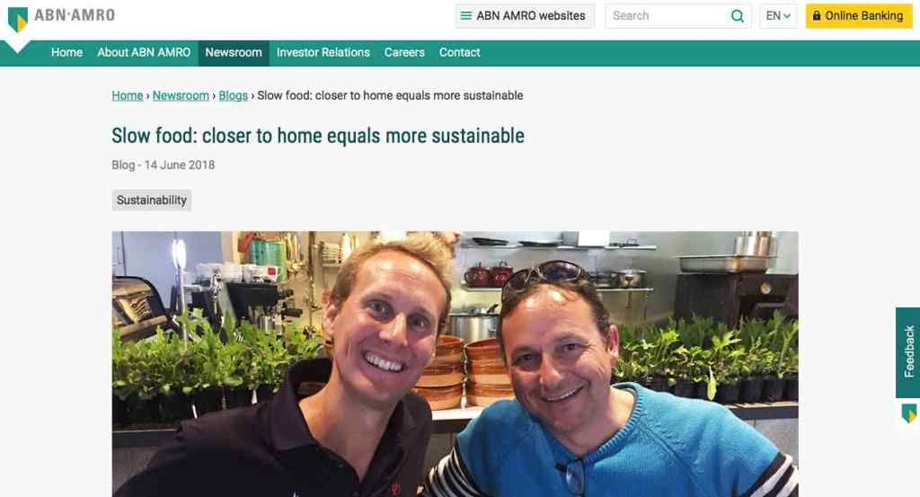 Blog 20 Eng Sailors for Sustainability at ABN AMRO Slow Food