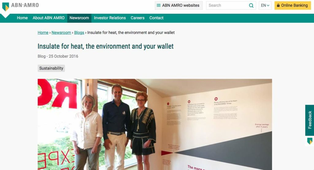 Blog 6 Eng Sailors for Sustainability at ABN AMRO Insulation