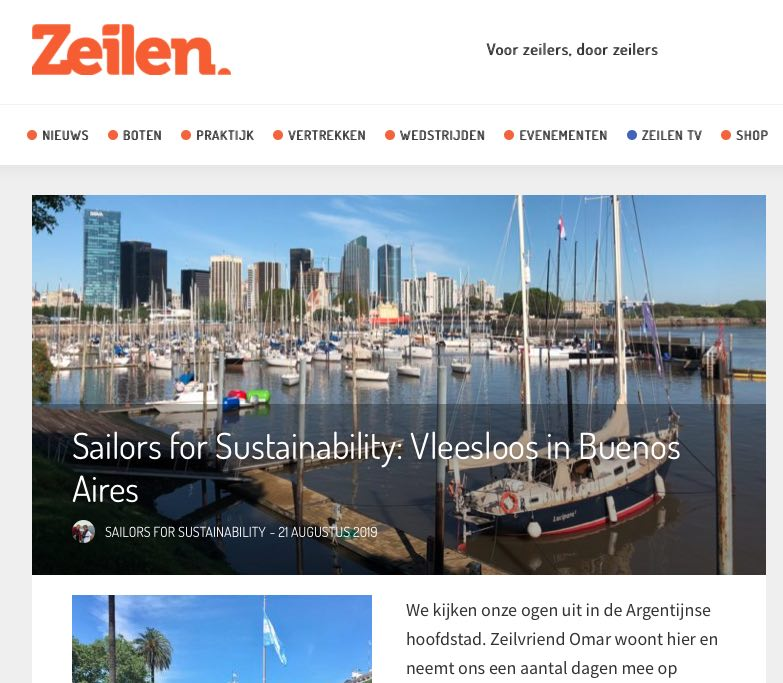 35 Sailors for Sustainability at Zeilen about Meatless Buenos Aires 20190821