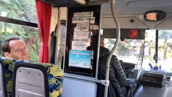 In the local bus to downtown Puerto Montt