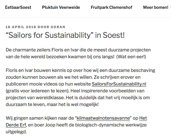 Sailors for Sustainability at Eetbaar Soest 201804
