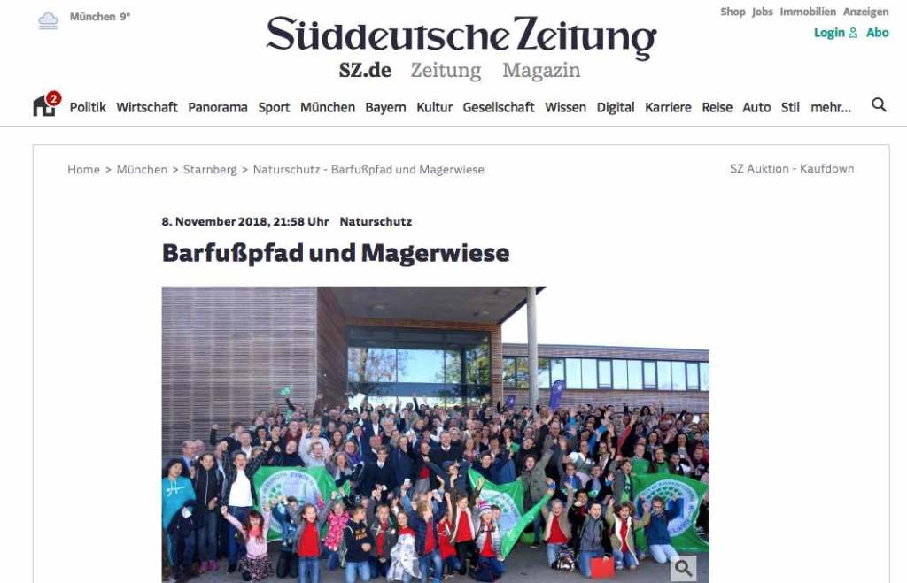Sailors for Sustainability at Sueddeutsche Zeitung 201811