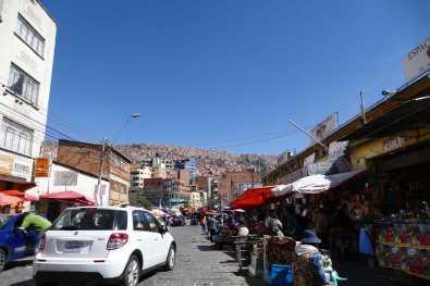 Street market in La Paz