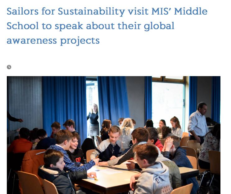 Sailors for Sustainability at Munich International School 2018