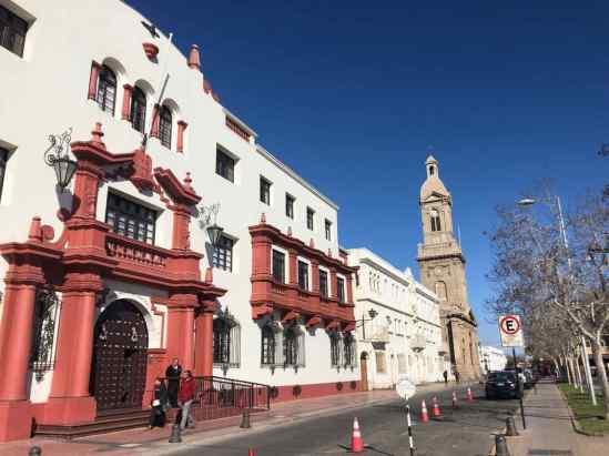 Colonial-style buildings in La Serena