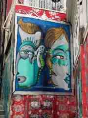 Mural in streetart capital Valparaiso