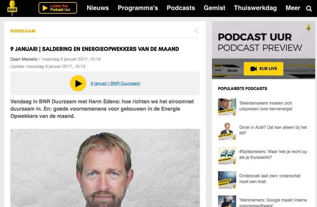 BNR Duurzaam interview Cork