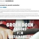 Vandebron about Sailors for Sustainability Groen Doen