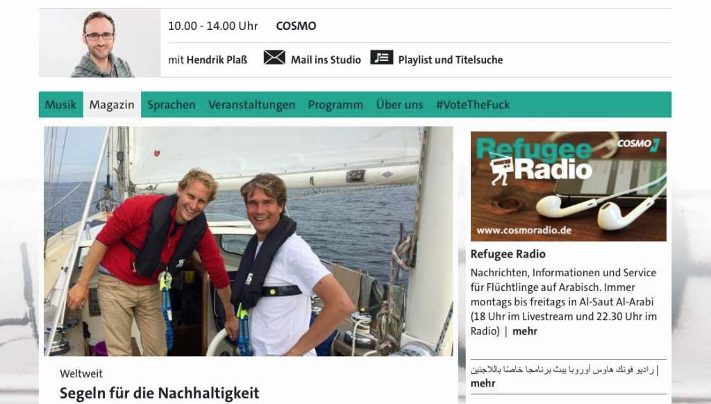 WDR Cosmo interview Floris