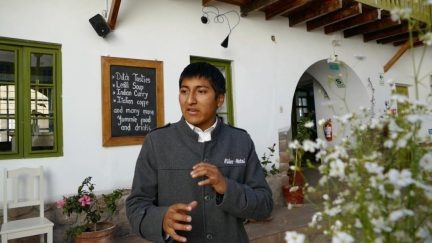 Manager Alejandro explains the social mission of the Niños Hotel
