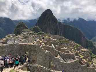 Masses at the amazing Machu Picchu