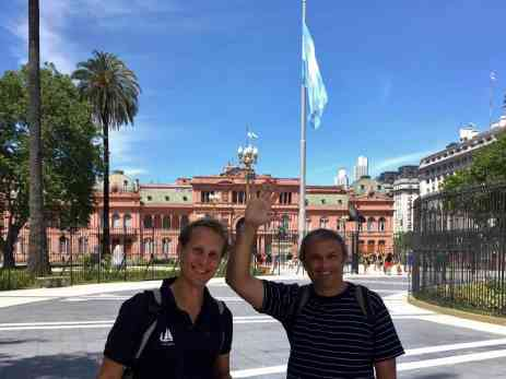 With our friend Omar at the Casa Rosada