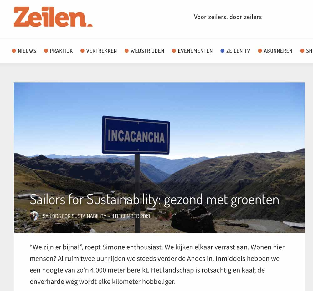 Sailors for Sustainability at Zeilen about Veggies 20191211