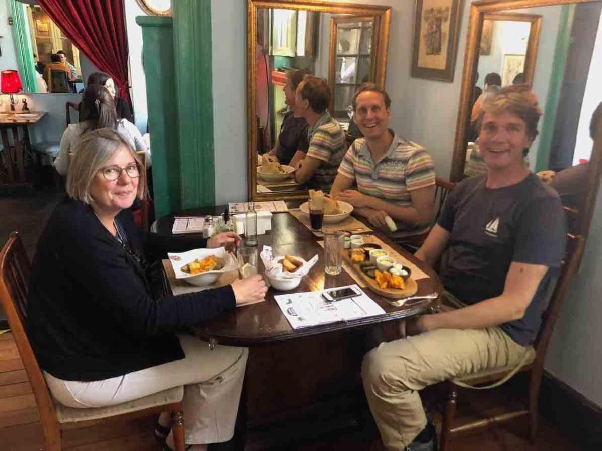 Tasting Santiago's cuisine with Margreet