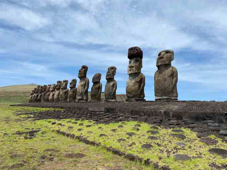The impressive Moai are believed to carry the Mana of important ancestors