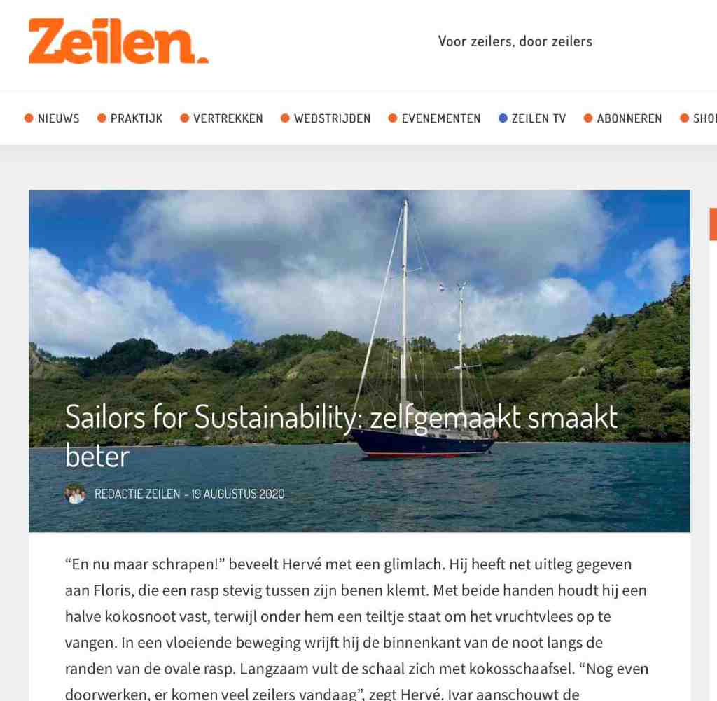 48 Sailors for Sustainability in Zeilen about homemade food 20200819